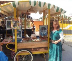 Eva selling her art winter 2013