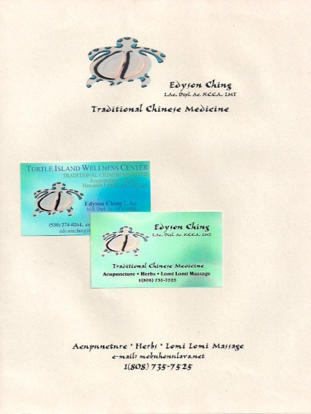 Ed Ching business card